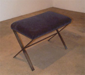 X-Bench w/ Upholstered Seat