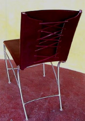 Aero Chair w/ Leather Corset Back & Seat