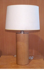 Round Leather Lamp