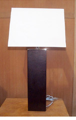 Square Leather Lamp